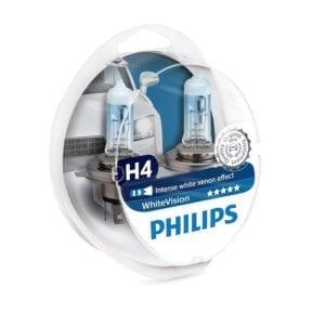 זוג נורות PHILIPS WhiteVision H4