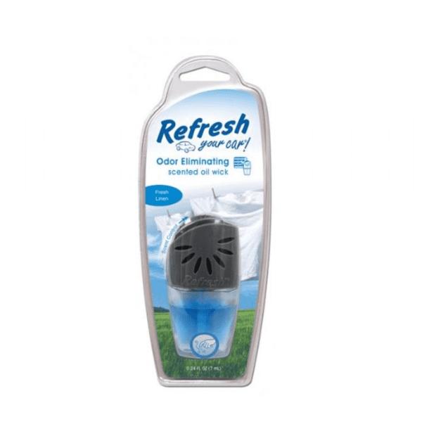 מפיץ ריח נוזלי לפתח אוורור בניחוח מרכך כביסה Refresh