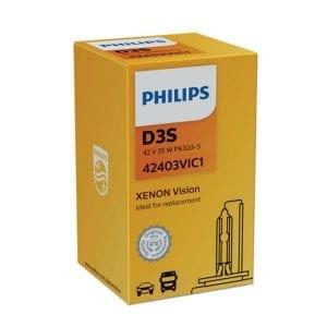 נורת גז PHILIPS XENON Vision D3S