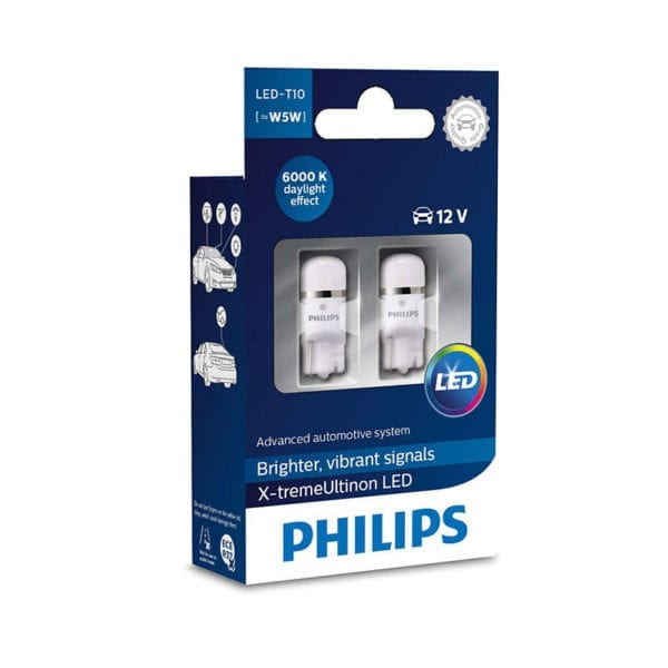 זוג נורות לד PHILIPS X-tremeUltinon W5W