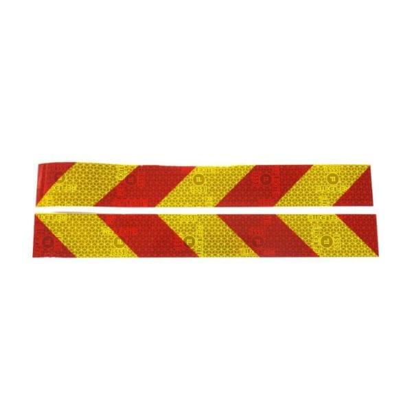 זוג פסים זוהרים צהוב-אדום