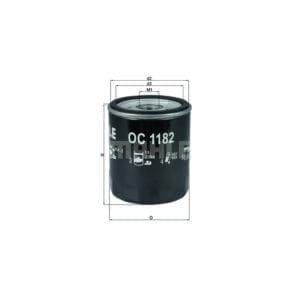 מסנן (פילטר) שמן MAHLE OC 1182