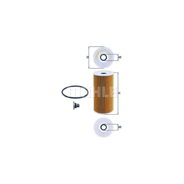 מסנן (פילטר) שמן MAHLE OX 377 D