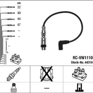 סט חוטי הצתה NGK RC-VW1110