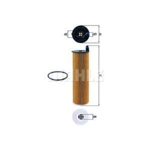 מסנן (פילטר) שמן MAHLE OX 823/6 D