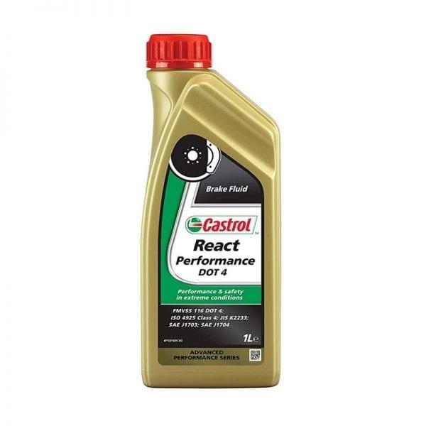 נוזל (שמן) בלמים Castrol React Performance DOT4 1L